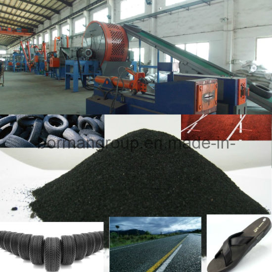 Waste Tyre Recycling Plant/ Tyre Recycling Line/ Tyre Recycling Equipment/ Tyre Recycle / Tyre Crushing/ Rubber Powder Recycling Machine/ Tire Recycling pictures & photos