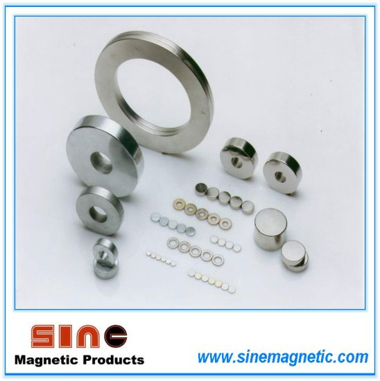Ring Neodymium Magnet N50/N52/N30M (Magnet Grade and Size Were Customized)
