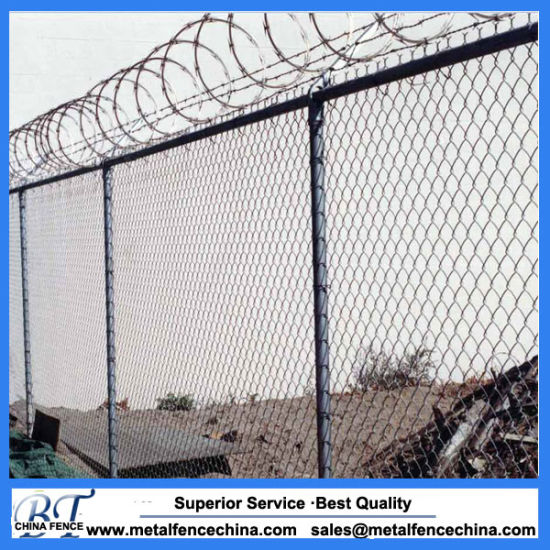 China Factory Chain Link Fence with Razor Wire Fencing - China Chain ...