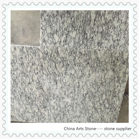 Flow Wave Grain White Granite Countertop for Kitchen
