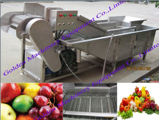 China Fruit Bubble Berries Apple Aloe Vera Washing Cleaning Machine pictures & photos