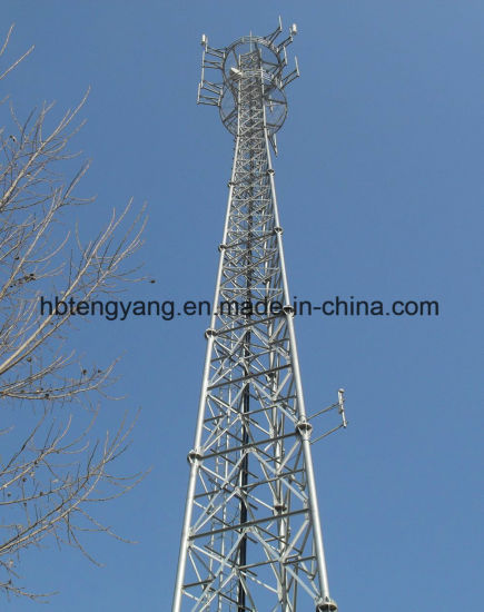 Self Supporting Steel Lattice Microwave Antenna Tower