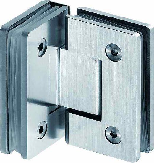 China Seasang Hardware 316 Stainless Steel Bathroom Glass Door Hinge