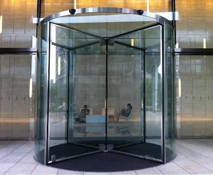 Glass Revolving Door China 3 Wings Automatic Rotary Door