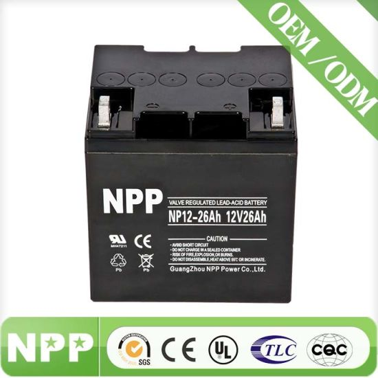 Rechargeable SLA Battery for UPS (12V26AH)