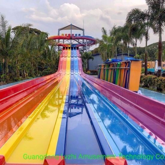 Colorful Octopus Racer Fiberglass Water Slide (WS-059)