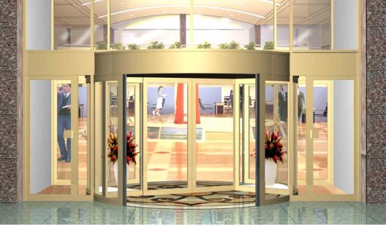 Shopping Mall Use Customer Dimensions Designed Automatic Revolving Door & China Shopping Mall Use Customer Dimensions Designed Automatic ...
