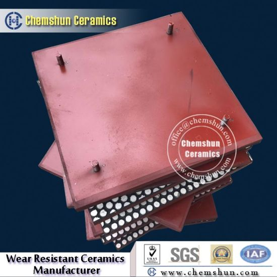 Rubber Backed Ceramic Wear Tiles as Chute Linings
