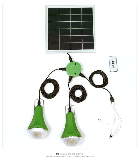 Mini Solar Energy System Solar Powered LED Light Kit pictures & photos