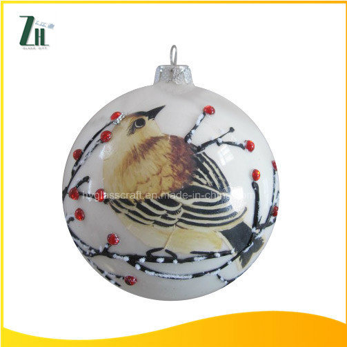 2016 New Hot Sale 100 Wholesale White Glass Christmas Ball Ornaments pictures & photos