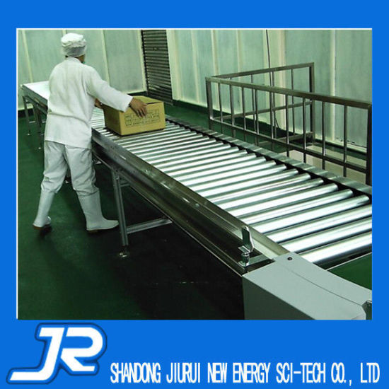 Manual Steel Roller Conveyor with Side Guide for Production Line pictures & photos