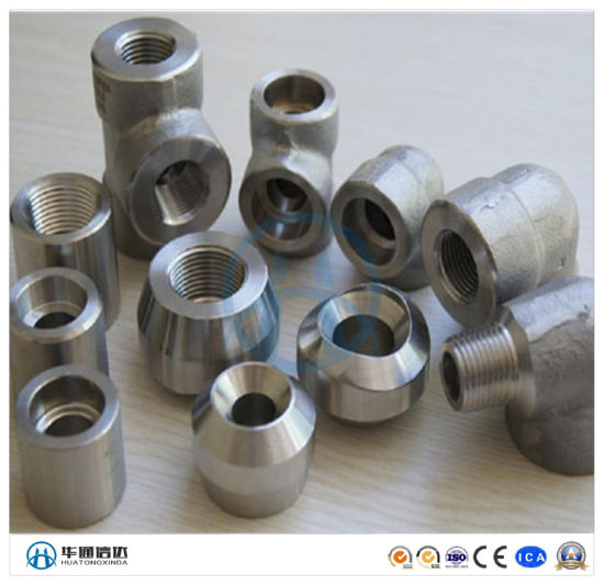 HDG Cast Iron Stainless Steel Forged Threaded Socket Weld Fittings Elbow Tee
