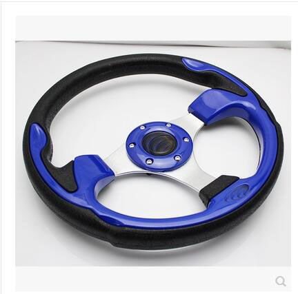 13inch Blue Car Steering Wheel with PVC and Aluminum pictures & photos