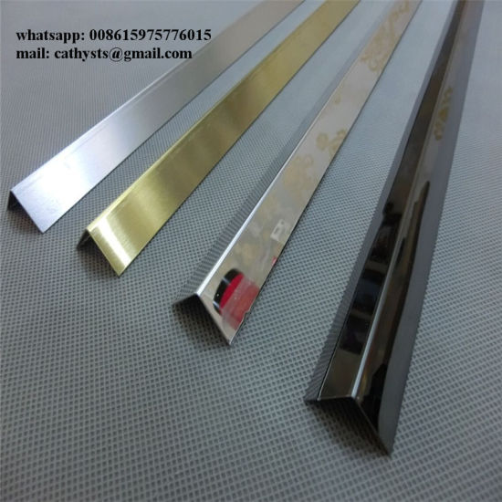 China Stainless Steel L Shaped Angle Profile Hairline Finish