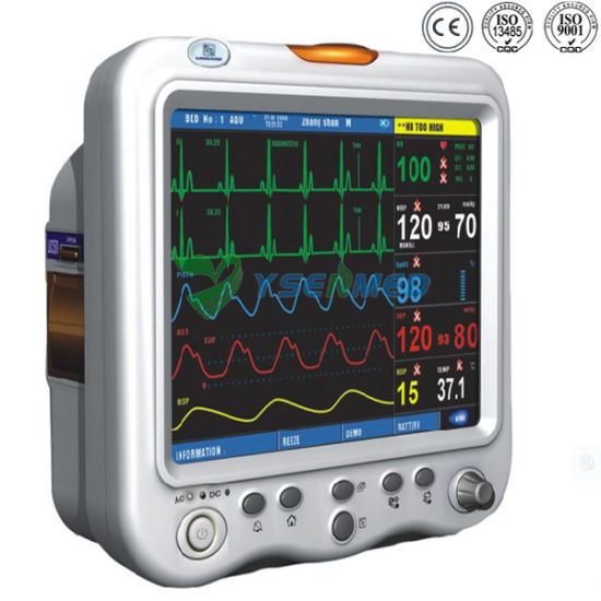 Hospital Medical Portable Vital Signs Cardiac Multi Parameter Patient Monitor pictures & photos