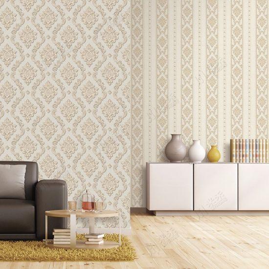 Interior Decoration Waterproof Pvc Vinyl Wallpaper Wall Paper