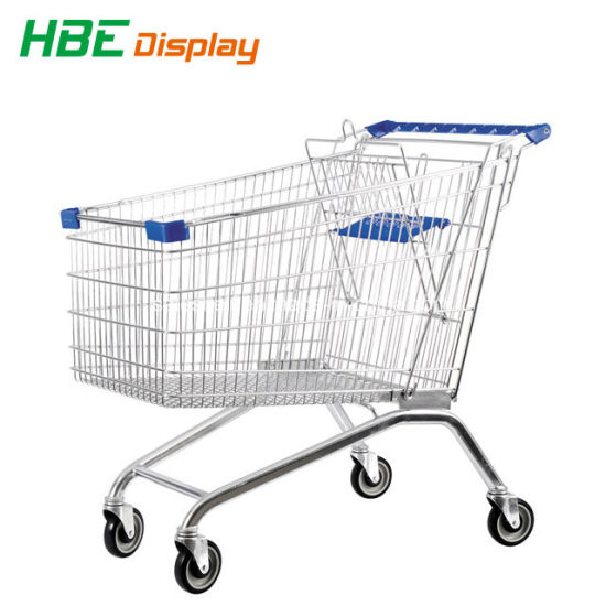 Hot Sale Shopping Trolley Cart with Coin Lock pictures & photos