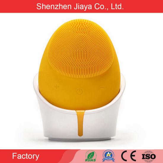 Electric Vibrating Exfoliator Face Massage Silicone Wash Face Brush
