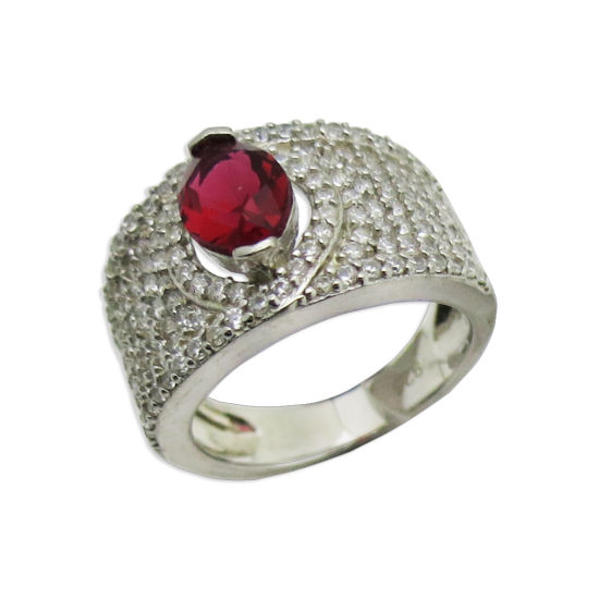 China Best Quality Fashion Jewelry With Aaa Cubic Zirconia Creative Ruby Shire Rhodium Plated Ring Men Woman 925 Sterling Silver Jewellry R10949
