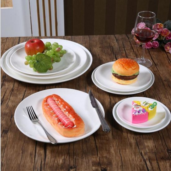 China Ceramic Plate Wholesale Restaurant White Round Dinner Plates Hotel Plates : chinese ceramic plates - pezcame.com