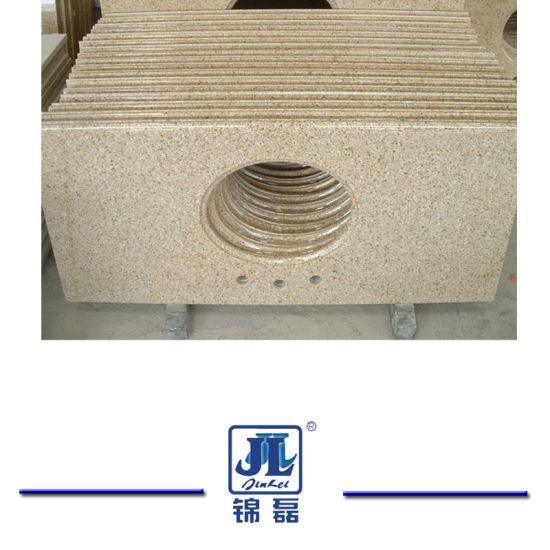Prefab White/Black/Grey/Granite/ Marble Natural Island Stone Kitchen Countertop for Hotel Cabinet Project