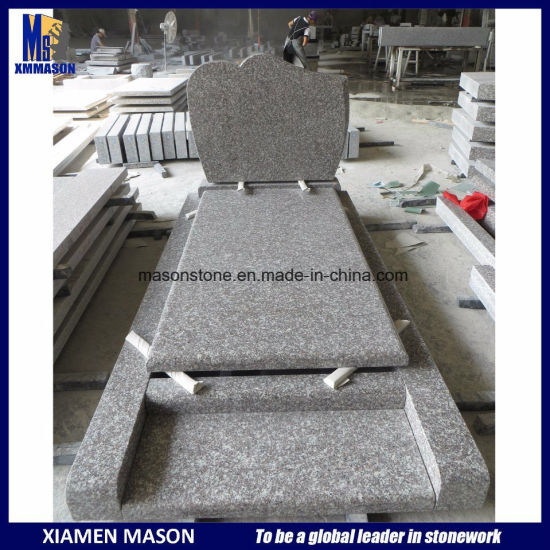 G664 France Popular Cheap Simple Granite Tombstone pictures & photos