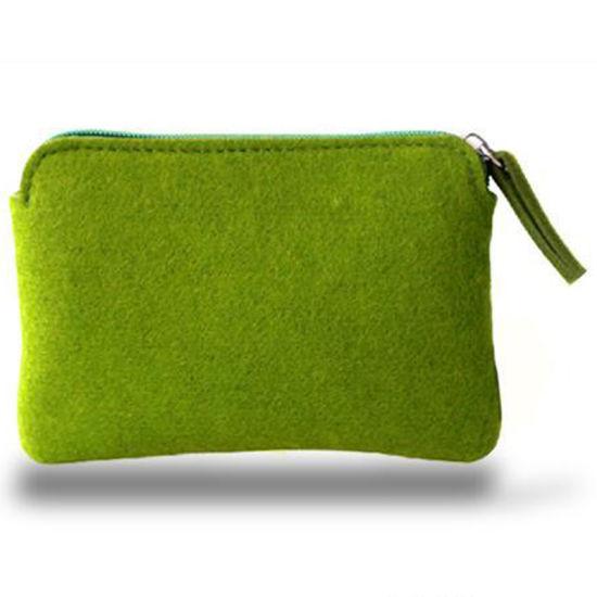 Zipper Felt Cosmetic Bags with Custom Logo