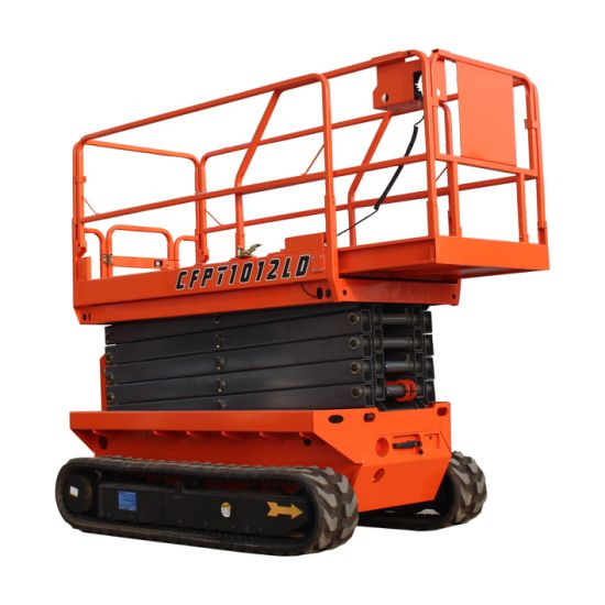 Full Automatic One Man Lift Platform Self-Propelled Scissor Lifter Rubber Track Crawler Scissor Lift
