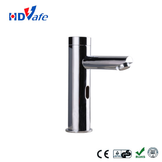 Pillar Design Integrated Spout Wash Basin Automatic Infrared Sensor Tapshut off Faucet