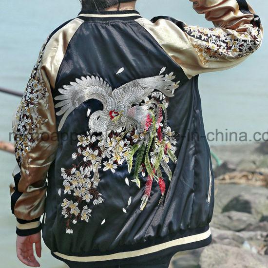 cfefbb567 Customized Women Bomber Jacket with Phoenix Embroidery