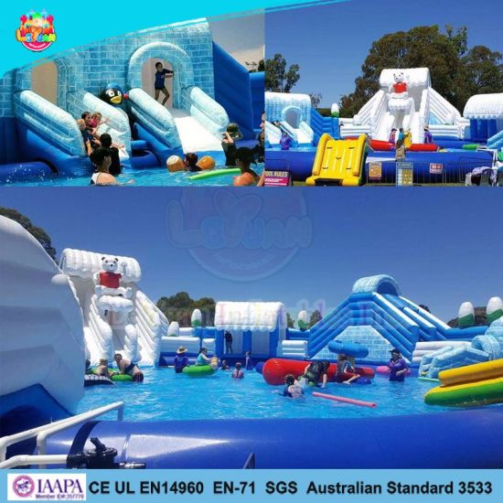 2018 Big Inflatable Water Park for Amusement Park