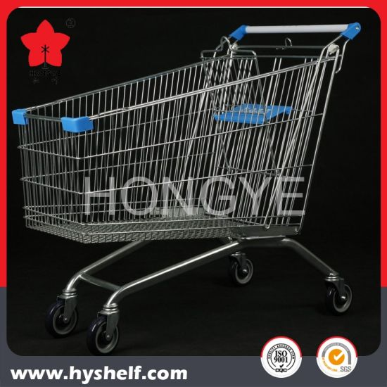 Metal Mesh Wire Shopping Cart Supermarket Trolley