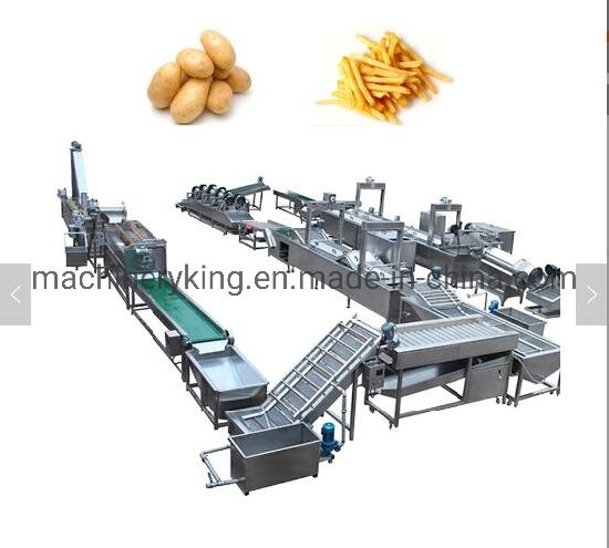 Large Capacity Full Complete Fried Chips Making Machine Equipment Potato Chip Production Line
