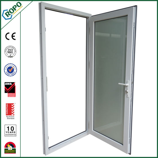 China Double Glass Pvc Soundproof Doors Interior French Doors White