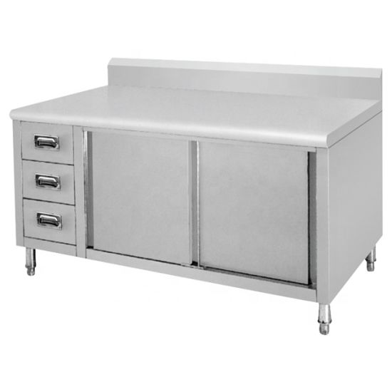 Stainless Steel Kitchen Cabinet Used in Hotel Restaurant