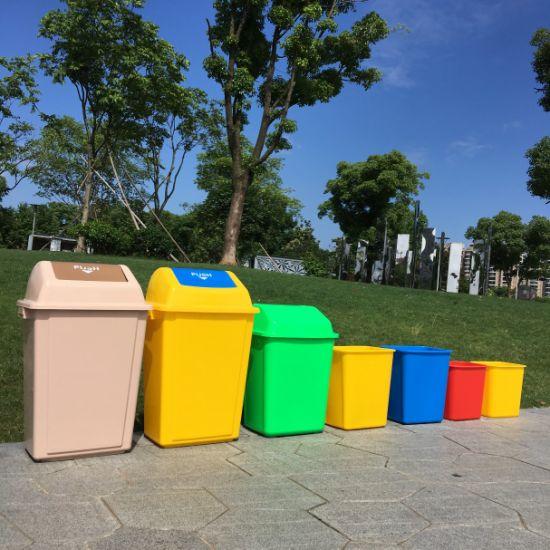 PP Public Outdoor Swing Top Waste Bin Kitchen Trash Can