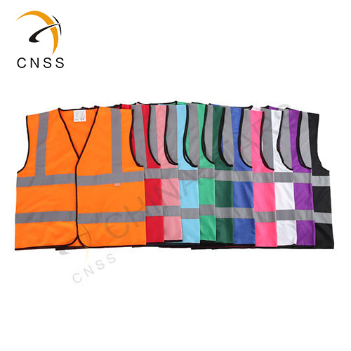 Csv-056 Chinastars Purple High Visibility Safety Vest Pink Blue Red Black White Dark-Green Rosy 11 Colors Available