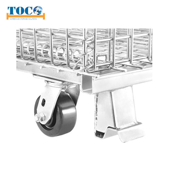 Stackable Wire Storage Cage for Warehouse Storage
