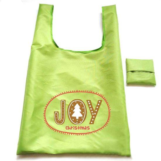 Fashion Polyester Foldable Promotional Shopping Bag