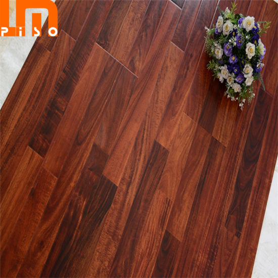 China Double Click Cheap Non Slip 12mm 3 Strips Laminate Flooring