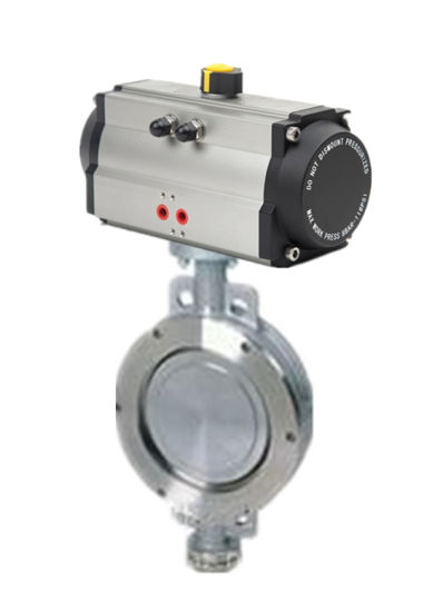 Pneumatic Wafer Type Triple/Three Eccentric Butterfly Valve