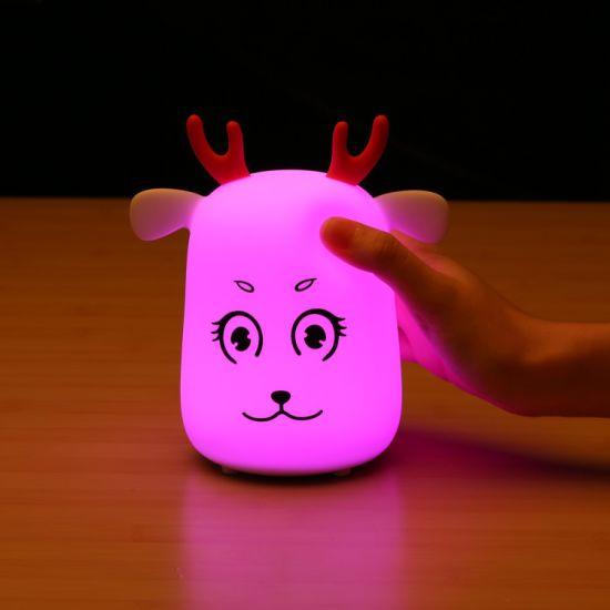 LED Night Light Portable Table Night Lamp Children Nursery Baby Safety