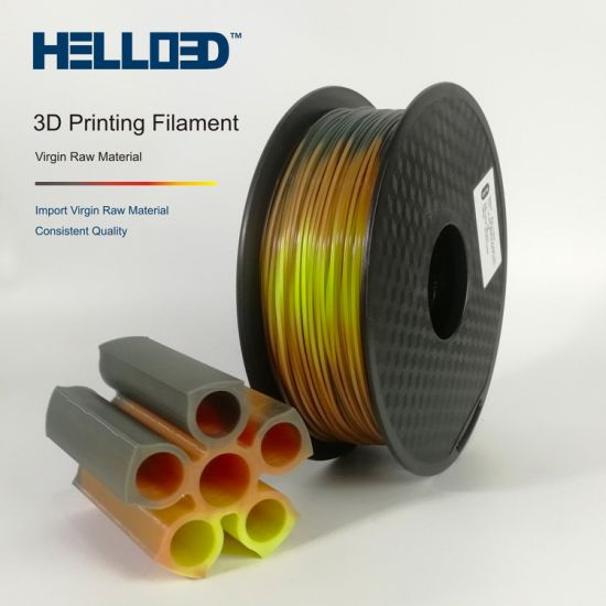 Hello3d New Arrival PLA Temperature Tri-Color-Change Filament