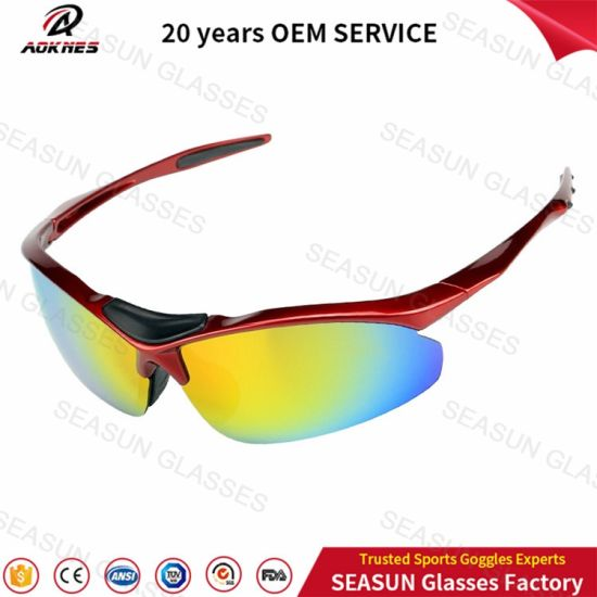 8f984ed055 Polycarbonate Antiuv400 Cycling Glasses Bicycle Mens Polarized OEM  Adjustable Lens Sunglasses Cycling Sports Eyewear with Myopic