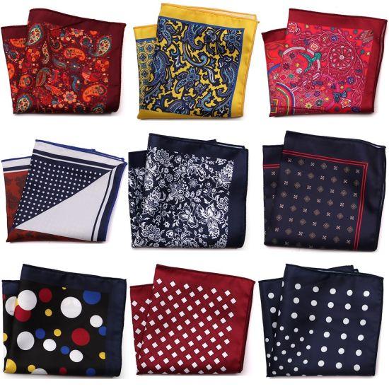 a9cc568560edd New Designer Pocket Square Printed Microfiber Paisley Checked Fashion  Handkerchief
