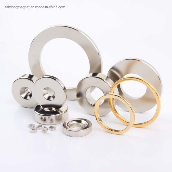 Over 10 Years Experience Ni Coating Powerful N50 NdFeB Ring Magnet