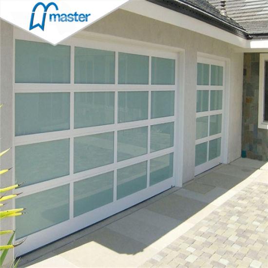 9X7automatic Anodized Aluminum Garage Door