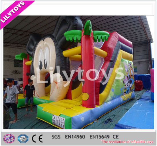 Attractive Design Durable Panda Inflatable Castle Slide Promotion pictures & photos