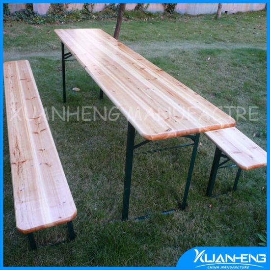 Wholesale Wooden Garden Furniture Beer Table