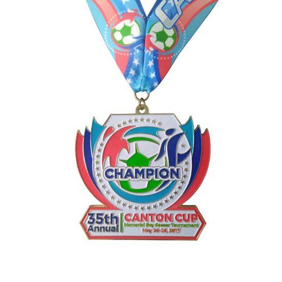 Custom Made Ribbon Zinc Alloy Metal Honor Third Place Medal